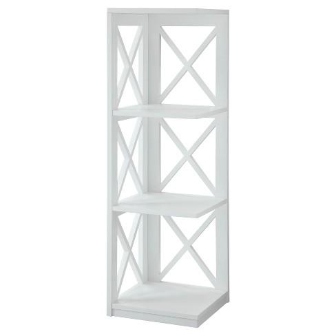 Decorative Bookshelf 38 5 White Convenience Concepts