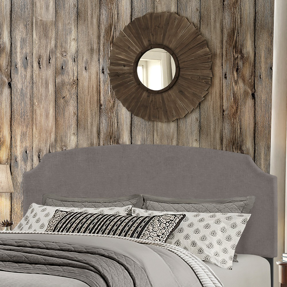 Desi Upholstered Bed In One King Stone Fabric - Hillsdale Furniture, Gray