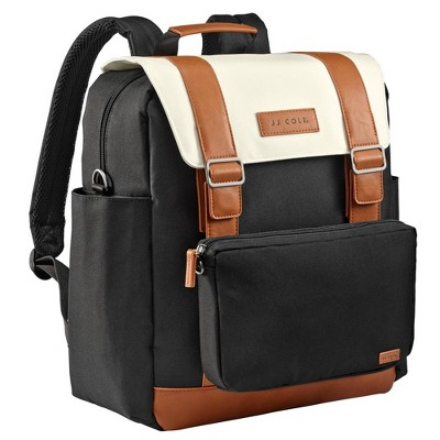 JJ Cole Bloomfield Modular Knapsack Diaper Bag Onyx & Ivory