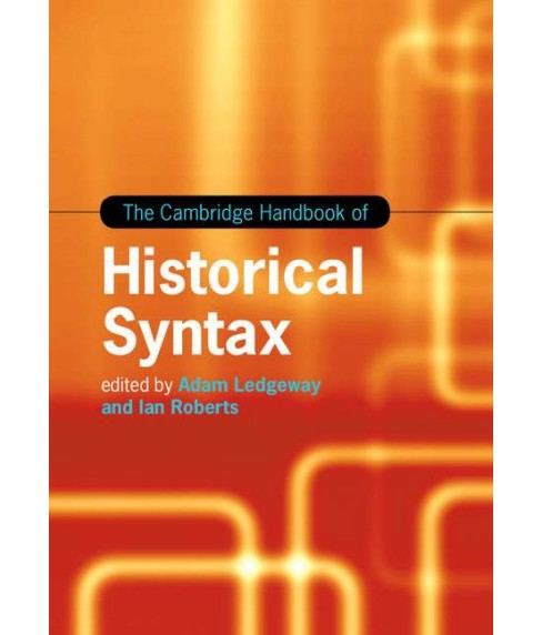 Cambridge Handbook of Historical Syntax (Hardcover) - image 1 of 1