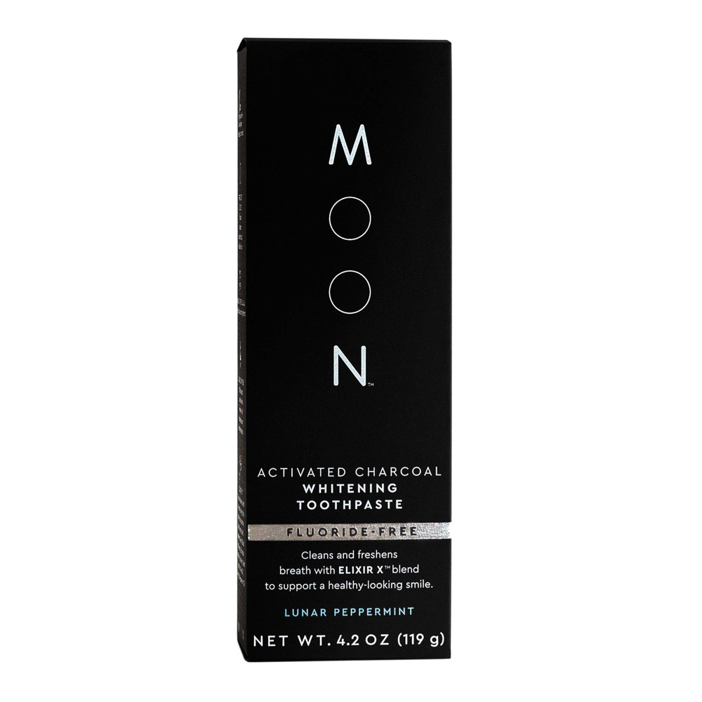 Image of Moon Activated Charcoal Fluoride-Free Whitening Lunar Peppermint Toothpaste - 4.2oz