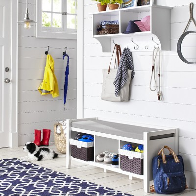 Functional Farmhouse Mudroom with Storage Collection