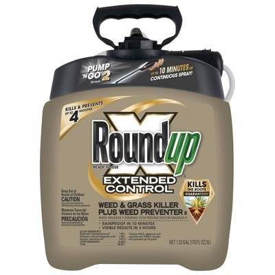 Roundup Extended Control Weed and Grass Killer - 1.33gal