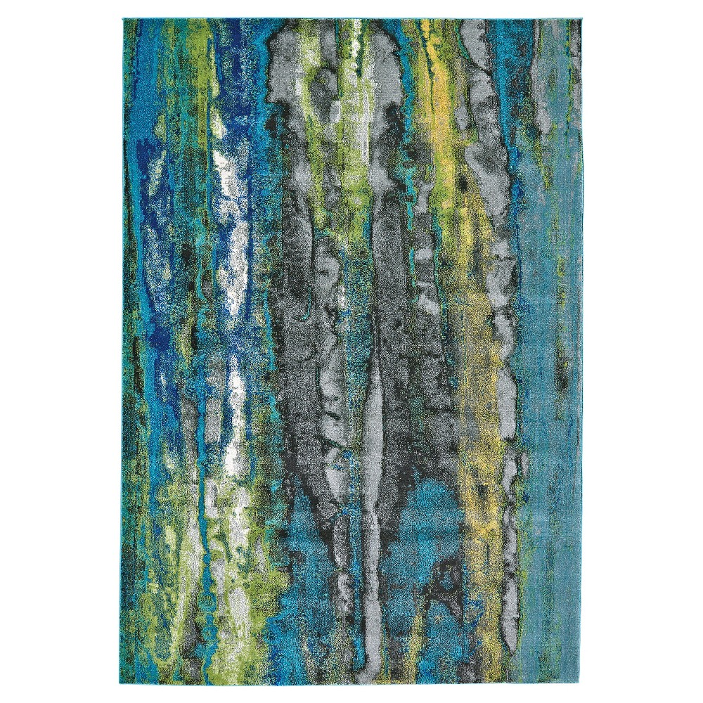 8'X11' Marble Woven Area Rugs Blue - Room Envy
