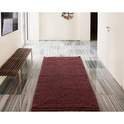 2'x5' Rectangle Woven Runner Red - VCNY