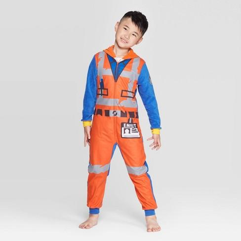 Boys' LEGO Movie 2 Emmett Union Suit - Orange - image 1 of 3