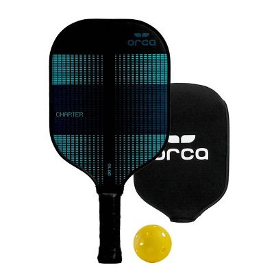 MD Sports Orca Charter Polymer Honeycomb Pickleball Paddle with Neoprene Cover - Green/Black