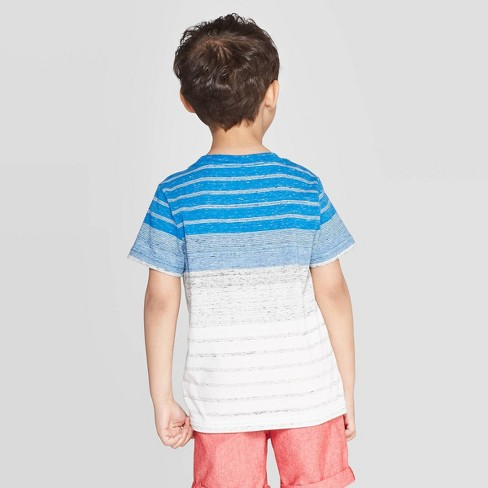 604664cf0 Toddler Boys' Elevated Texture Stripe T-Shirt - Cat & Jack™ Blue ...