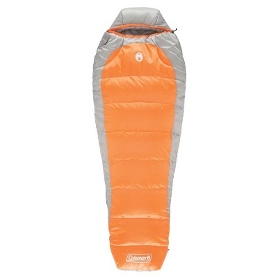 Coleman® Silverton™ 25 Degree Mummy Sleeping Bag – Orange/Gray