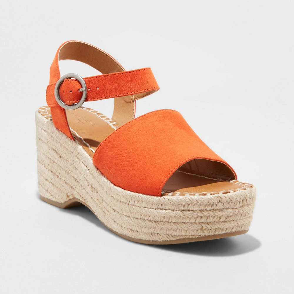 Women's Morgan Two Piece Espadrille Wedge - Universal Thread Coral (Pink) 5