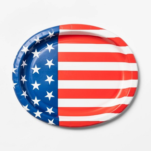 8ct 4th of July Stars and Stripes Oval Platter - Sun Squad™ - image 1 of 2