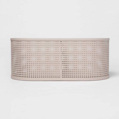 Oval Metal Bin Divider With Powder Coated Finish And Mesh Bottom Light Gray - Project 62™