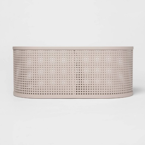 Oval Metal Bin Divider With Powder Coated Finish And Mesh Bottom Light Gray - Project 62™ - image 1 of 3