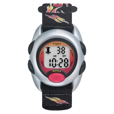 Kid's Timex Digital Watch with Flames Strap - Black T78751XY