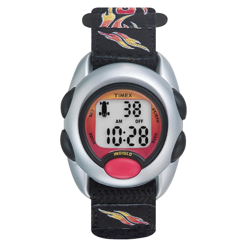 Image of Kid's Timex Digital Watch with Flames Strap - Black T78751XY, Adult Unisex, Size: Small