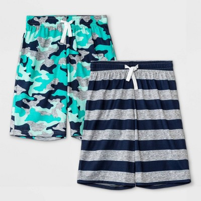 Boys' 2pk Camo Shorts Pajama Set - Cat & Jack™ Gray