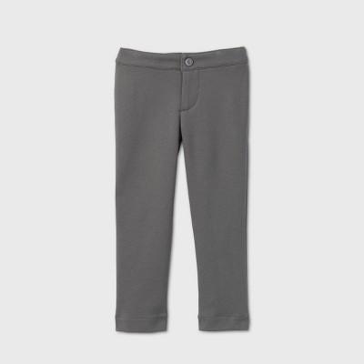 Toddler Girls' Stretch Uniform Ponte Pants - Cat & Jack™ Gray