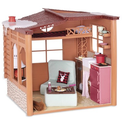 """Our Generation Cozy Cabin Dollhouse Playset for 18"""" Dolls"""