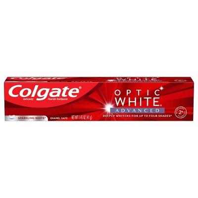 Colgate Optic White Advanced Teeth Whitening Toothpaste Sparkling White - Trial Size - 1.45oz