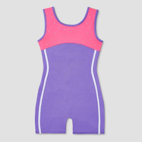 Freestyle by Danskin Toddler Girls' Gymnastics Biketard - Purple - image 1 of 2