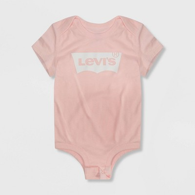 Levi's® Baby Girls' Short Sleeve Batwing Bodysuit - Pink 3M