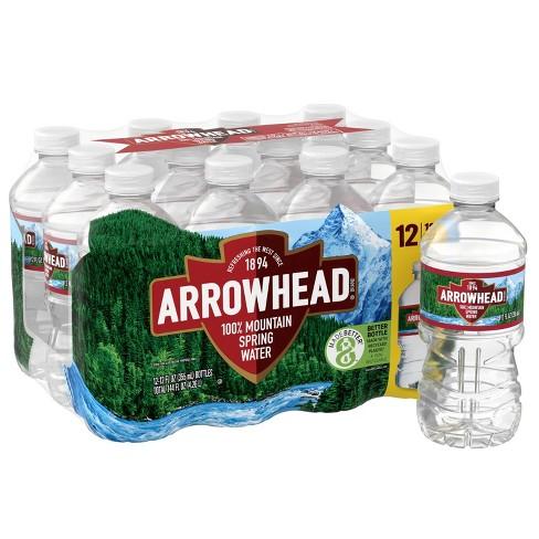 Arrowhead Brand 100% Mountain Spring Water - 12pk/12 fl oz Bottles - image 1 of 4
