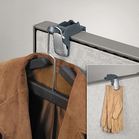 Fellowes Pro Series Partition Additions Coat Hook & Clip 1 5/8 x 2 3/4 x 3 Slate Gray 7501101 - image 1 of 1