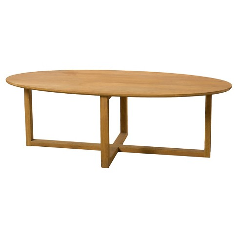 Rosemead Oval Coffee Table - Natural Acacia - Christopher Knight Home - image 1 of 4