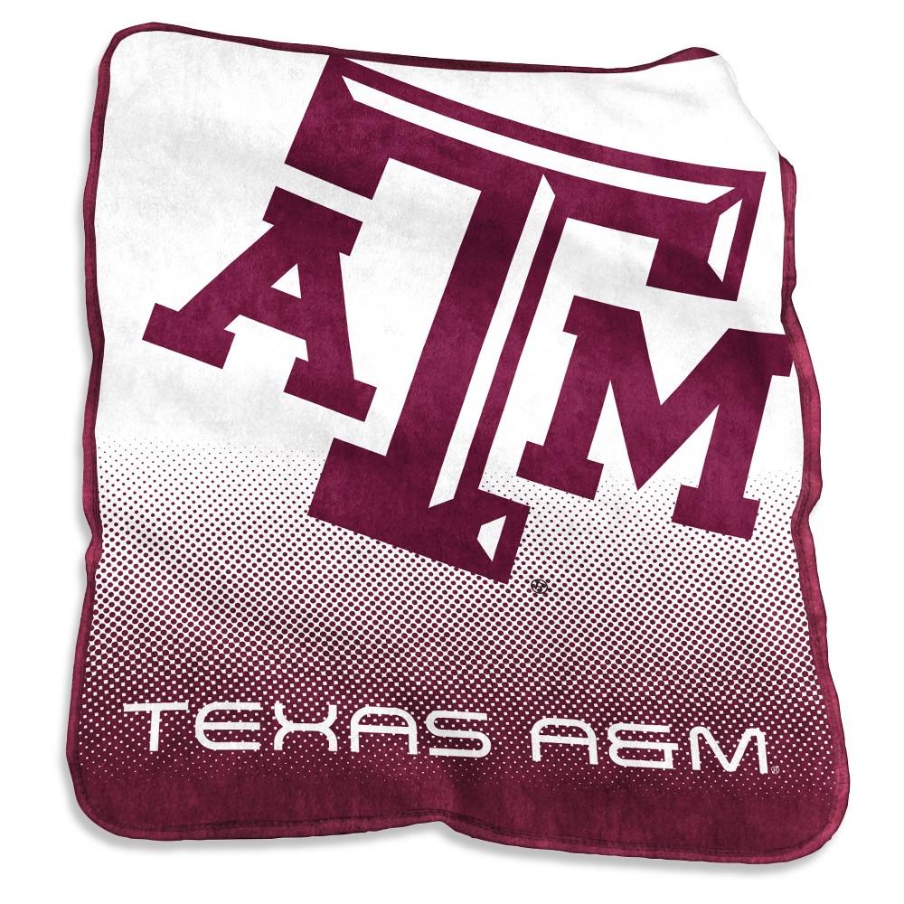 NCAA Texas A&m Aggies Logo Brands Raschel Throw Blanket