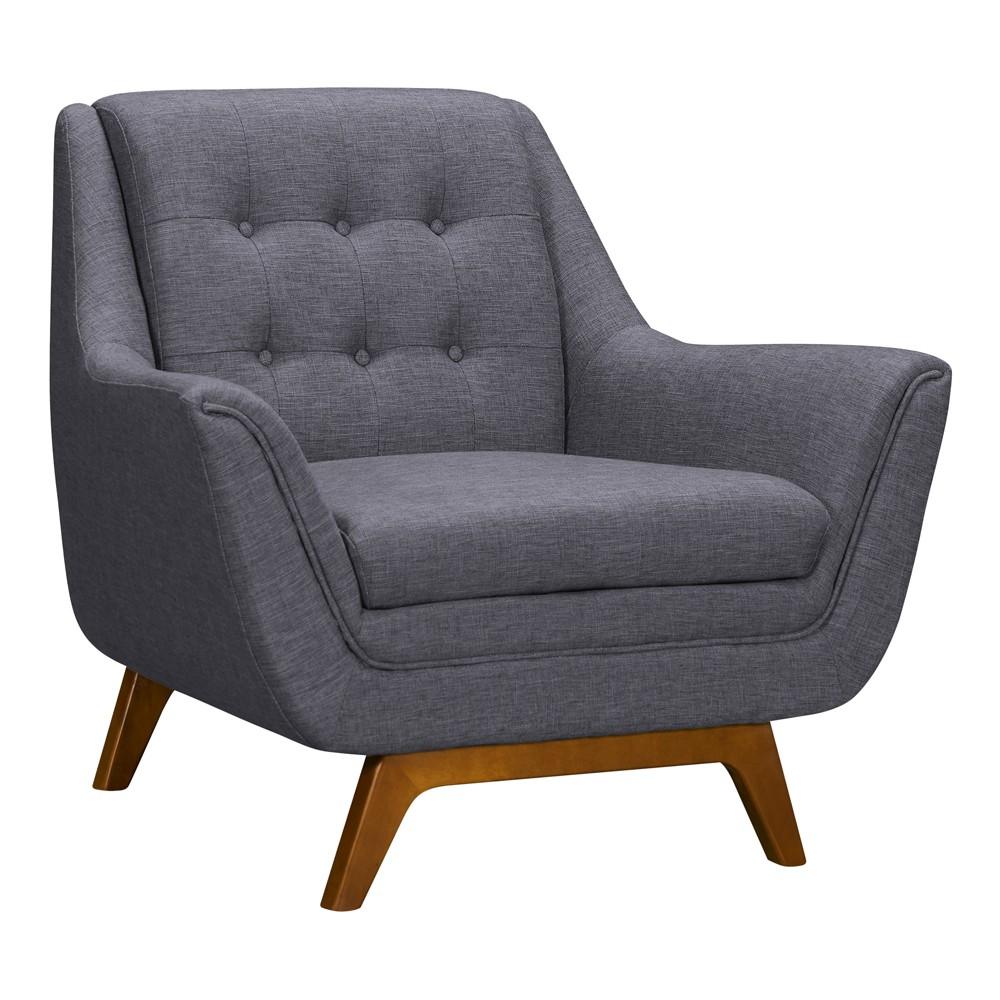 Image of Darna Mid-Century Sofa Chair Dark Gray - Modern Home