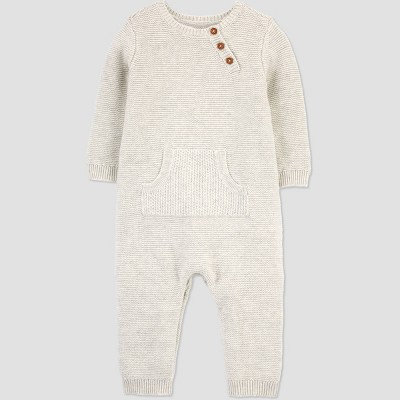 Baby Boys' Sweater Romper - Just One You made by Carter's Gray 3M