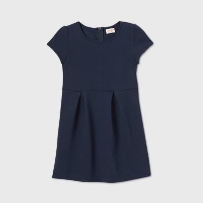 Girls' Stretch Short Sleeve Uniform Knit Jumpsuit - Cat & Jack™ Blue