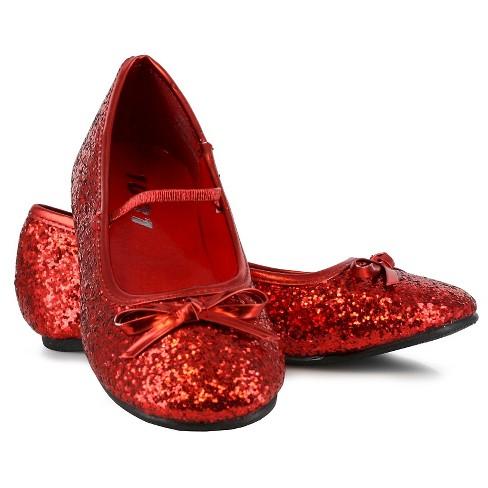 b245fbf64d2 Halloween Girls  Sparkle Ballerina Shoes Red Costume   Target
