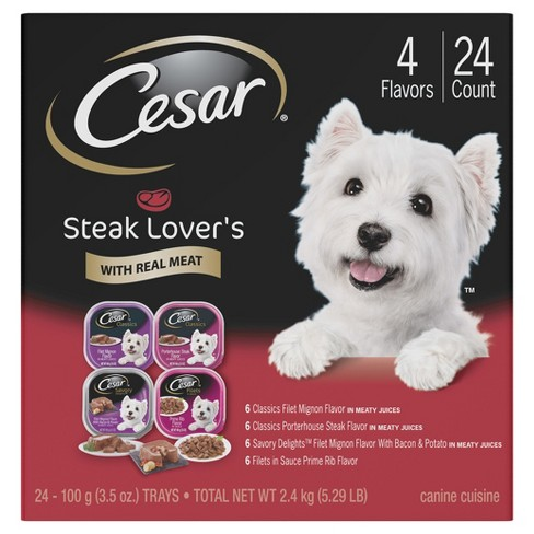 CESAR® Steak Flavor Wet Dog Food Variety Pack - 24ct - image 1 of 4