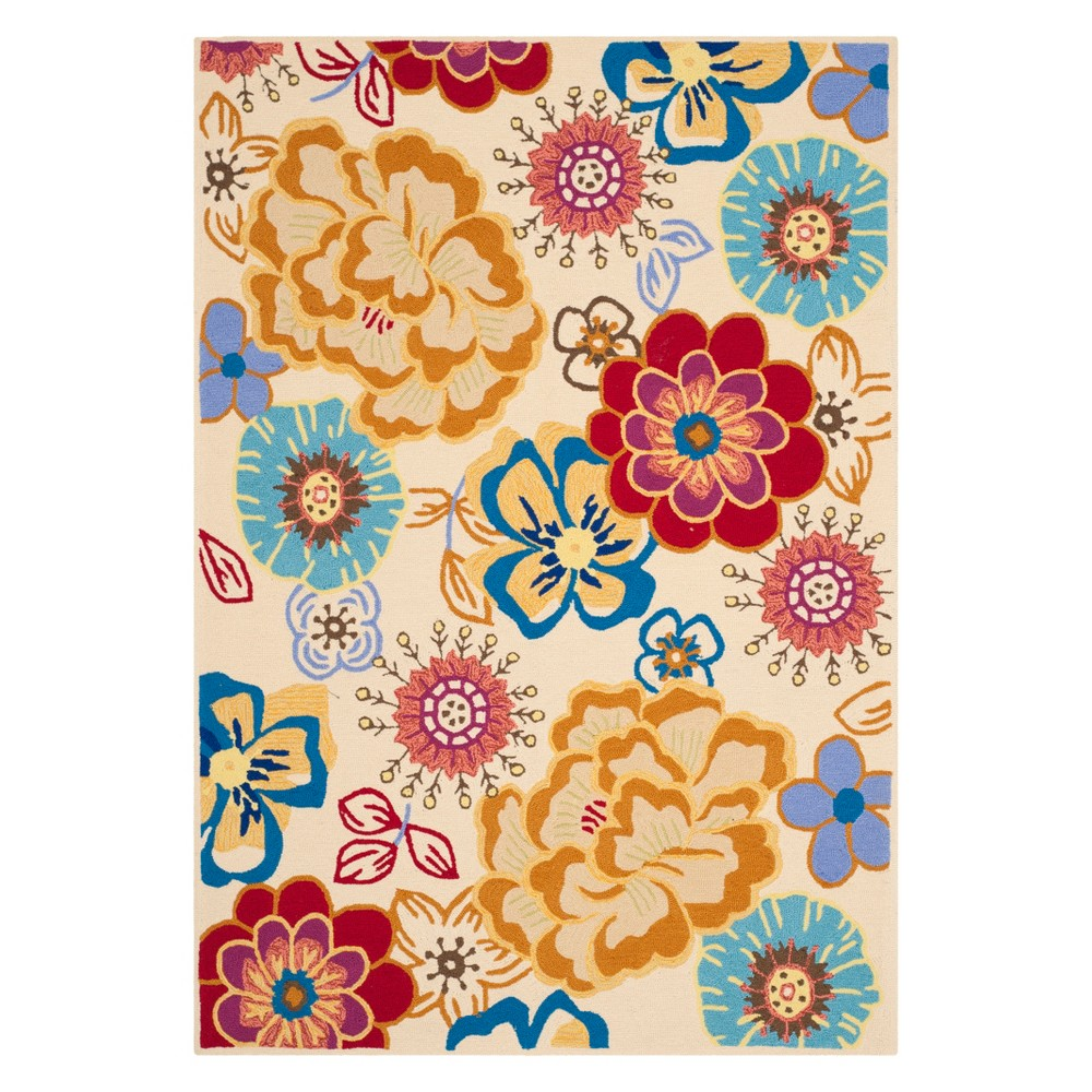 5X8 Floral Area Rug Ivory - Safavieh Buy