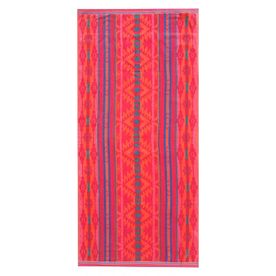 Striped XL Beach Towel Orange Zing