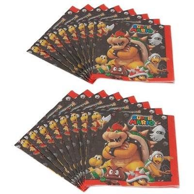 Amscan Super Mario Bros. Luncheon Napkins, 16 Count