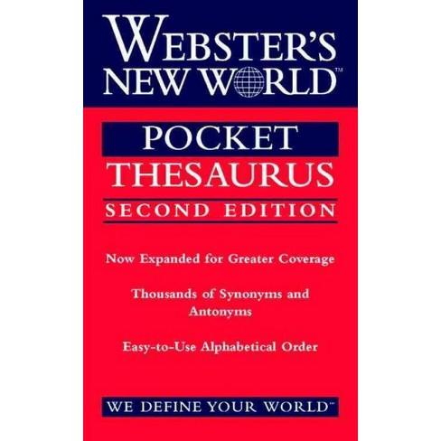 webster s new world pocket thesaurus paperback target