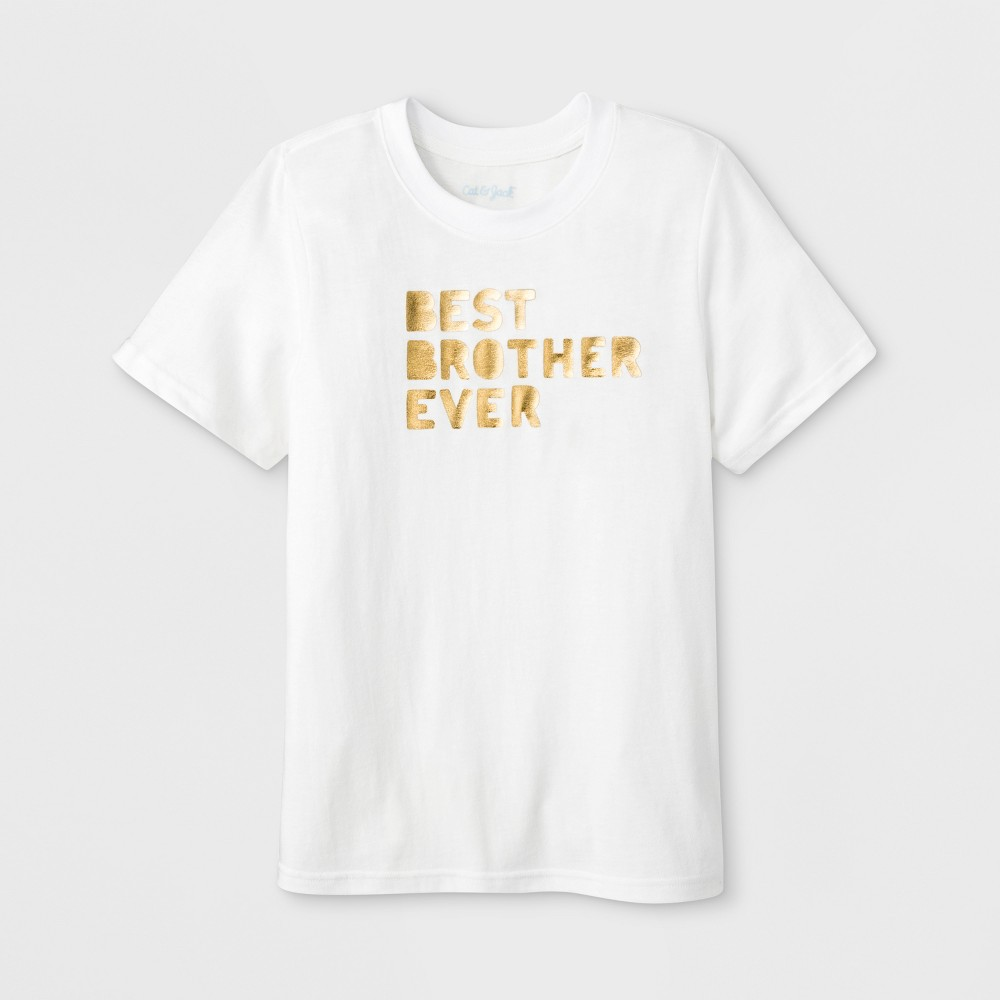 Boys' Short Sleeve 'Best Brother Ever' Graphic T-Shirt - Cat & Jack Eco White XS