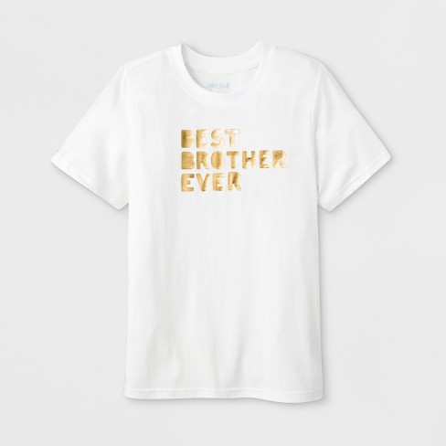 70e9fc99a2 Boys' Short Sleeve 'Best Brother Ever' Graphic T-Shirt - Cat & Jack™ Eco  White