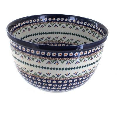 Blue Rose Polish Pottery Daisy Medium Mixing Bowl