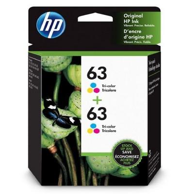 HP 63 2pk Ink Cartridges - Tri-color (HEW1VV67AN)