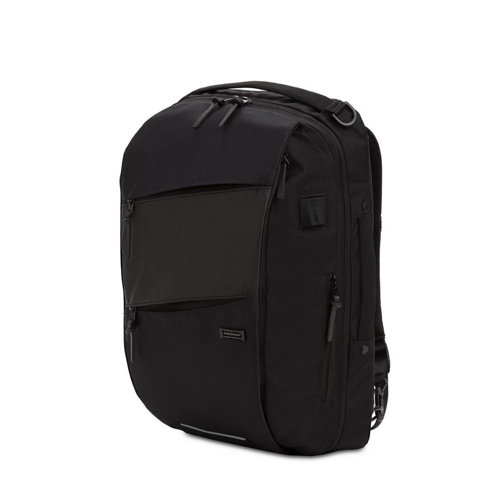Swissgear 19 34 Hybrid Backpack Messenger Black