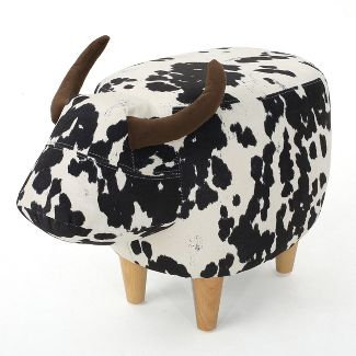 Bessie Cow Ottoman Brown - Christopher Knight Home