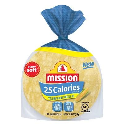 Mission 25 Calorie Yellow Corn Tortillas - 14oz/30ct