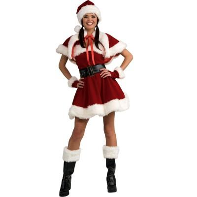 Rubies Velvet Miss Santa Adult Costume - Small