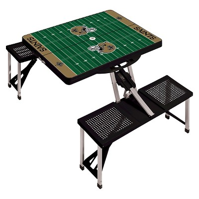 New Orleans Saints Portable Picnic Table With Sports Field Design By Picnic  Time   Black : Target