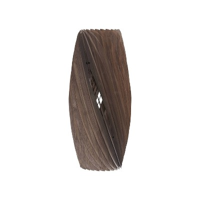 "19.75"" Modern Walnut Wood Hanging Pendant Lamp Walnut - Ore International"