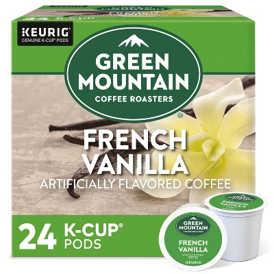 24ct Green Mountain Coffee French Vanilla Keurig K-Cup Coffee Pods Flavored Coffee Light Roast