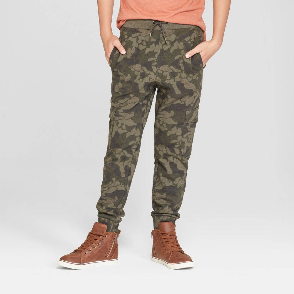 Big & Tall Boys' Jogger Pants - Cat & Jack Olive Green XL Husky